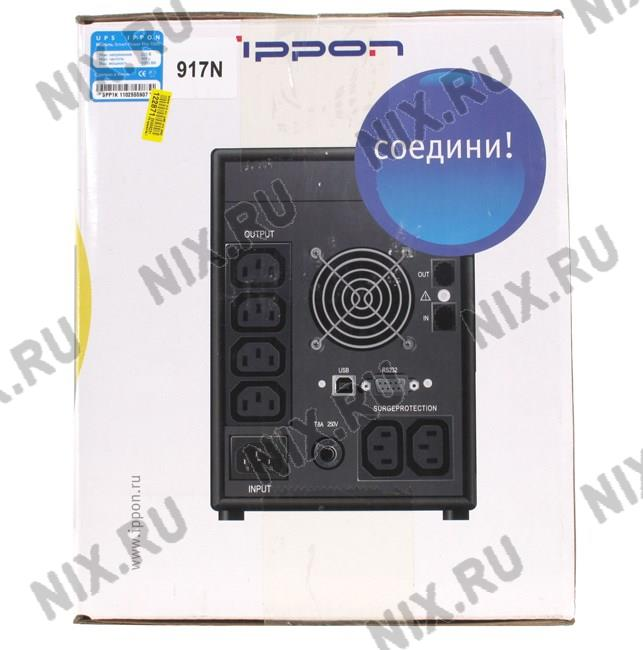 ИБП UPS 1400VA Ippon Smart Power Pro 1400 Black +ComPort+защита телефонной
